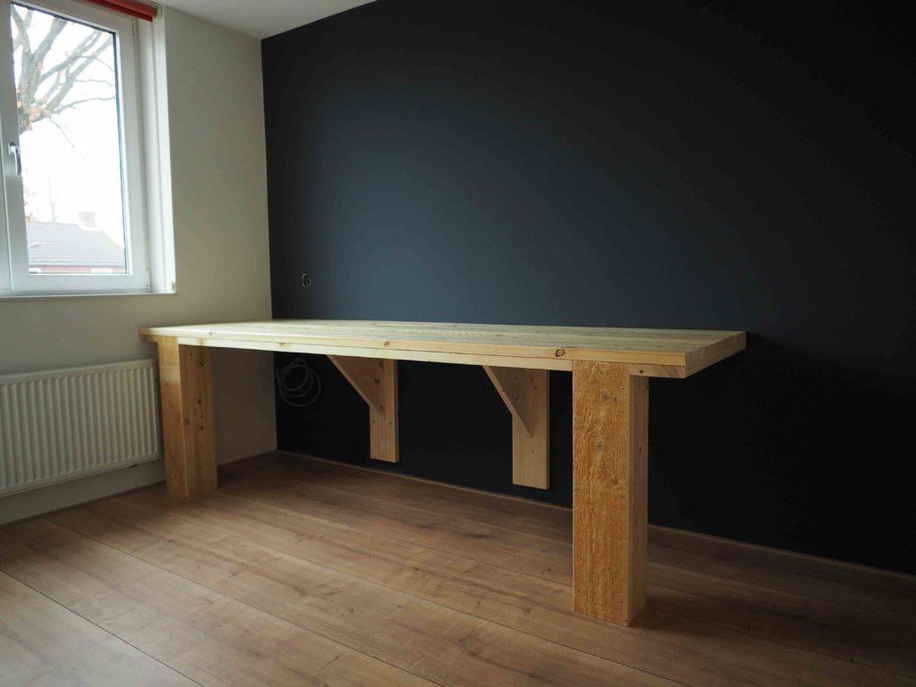 steigerhouten meubels: werktafel