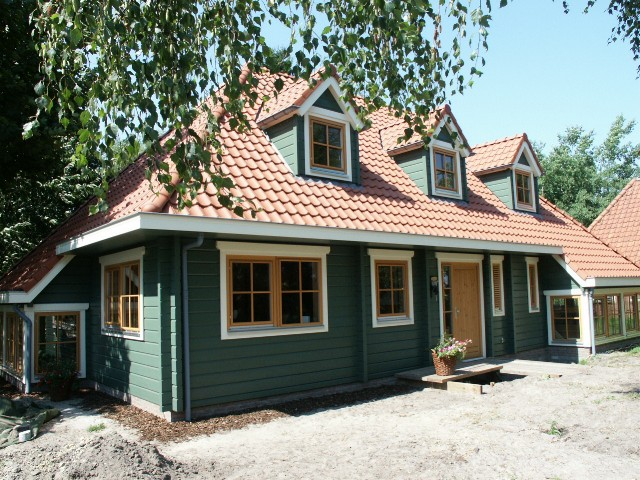 Finse houten woning klaar