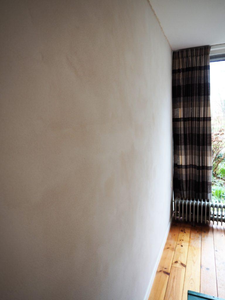 Wand met Duro topleem Tierrafino Dover wit